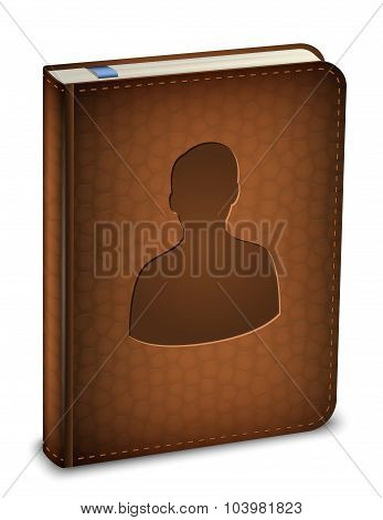 Address Book Icon. Vector