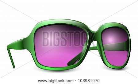 Pink Glasses Isolated On A White Background. Vector Illustration
