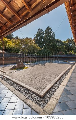 Zen Rock Garden At Ryoanji, Japan