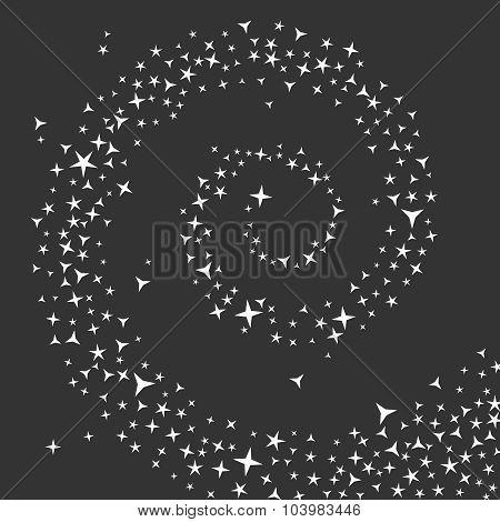 Vortex or swirl of stars