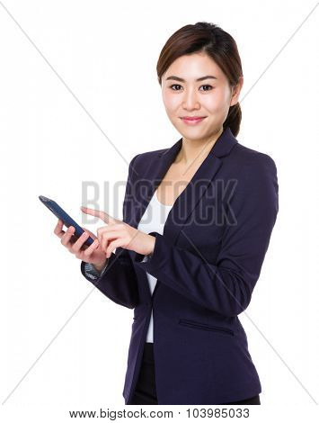Asian young Businesswoman use of the cellphone