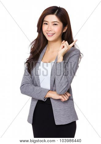 Asian businesswoman think of the idea
