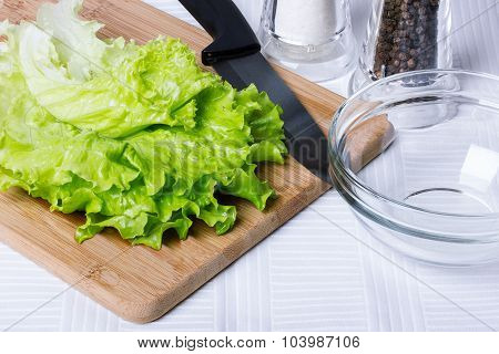 Salad On A Cutting Board