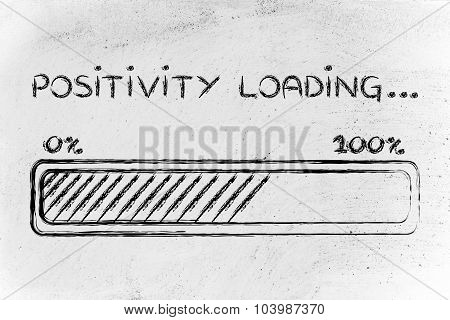 Positivity Loading, Progess Bar Illustration