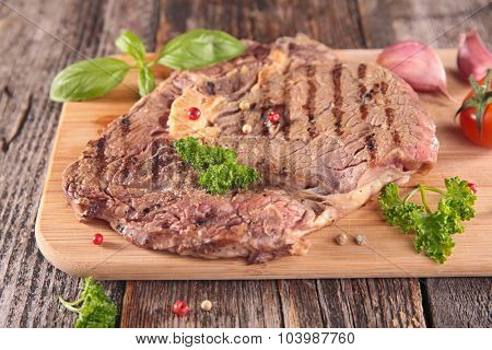 grilled beef on board
