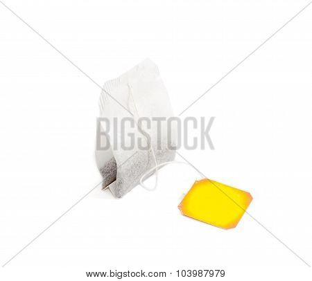 One Tea Bag On A Light Background