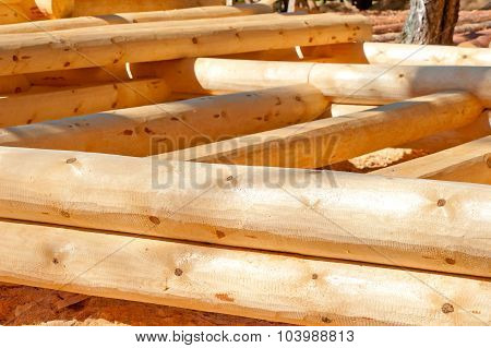 Started Construction Of A House Of Timber
