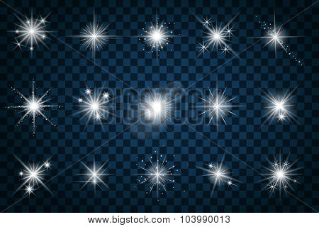 Shine stars with glitters and sparkles