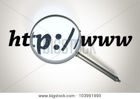 Searching the internet with a magnifying glass