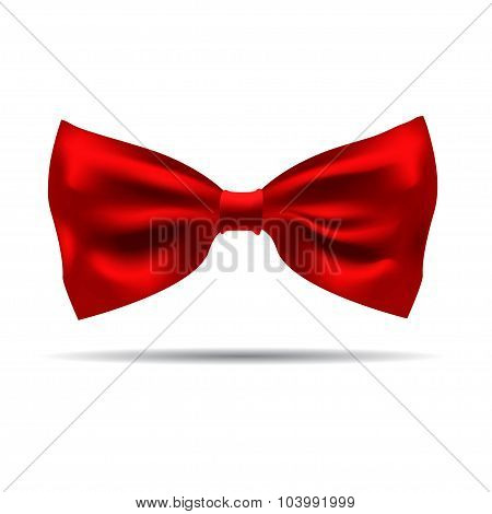Vector of black silk bow tie on a background.