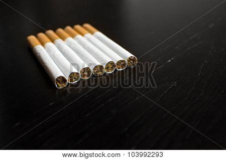Tobacco Closeup Cigarettes Elegant Wallpaper