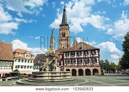 The Church Of Saint Johannes And Saint Martin, Schwabach, Germany