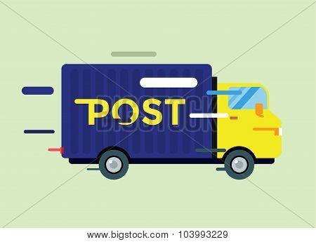 Delivery vector truck. service van silhouette