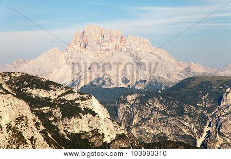 Gruppo Di Cristallo In Italian Dolomites