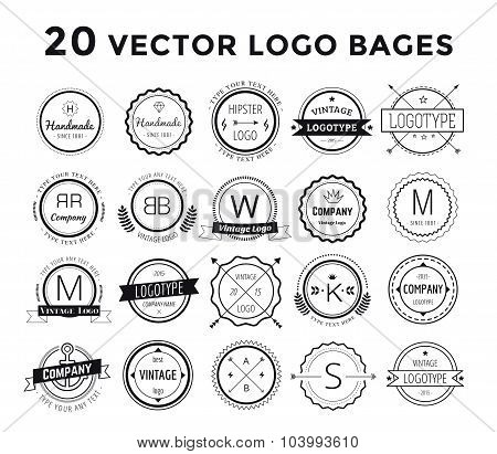 Massive logo set bundle vector