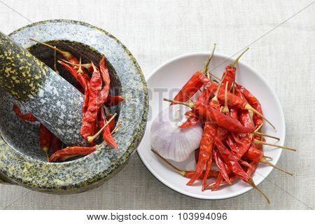 dry chili and spice