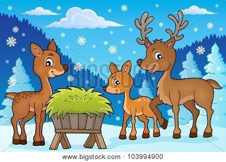 Deer theme image 1 - eps10 vector illustration.