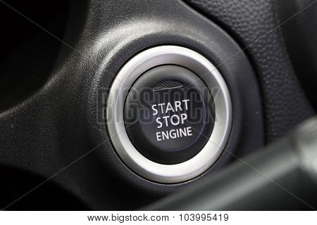 Start Stop Engine Buttons In Car