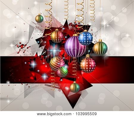 Seasonal Christmas Background for your Christmas Flyers, dinner invitations, festive posters, restaurant menu cover, book cover,promotional depliant, Elegant greetings cards and so on.