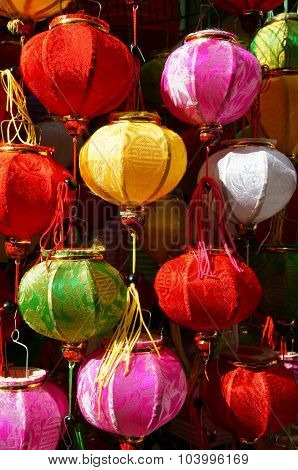 Colorful Lantern, Marketplace, Mid-autumn Festival