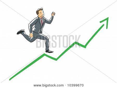 Executive running