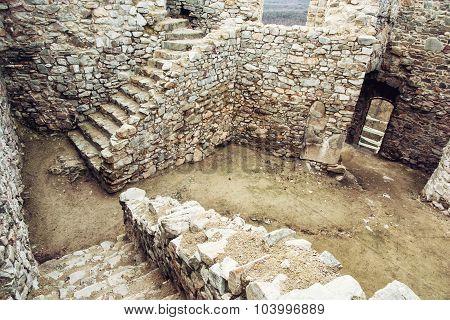 Ruins Of Beautiful Castle Hrusov