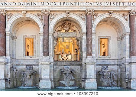Fountain of acqua Paola in Rome