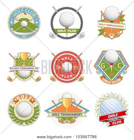 Golf club logo set