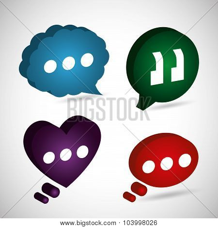 Chat speech bubbles