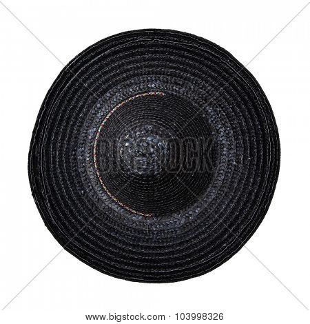 Black sombrero hat isolated on white background