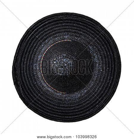Black sombrero hat isolated on white background