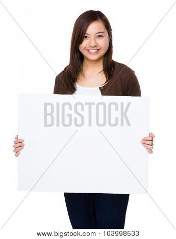 Woman show with the white board