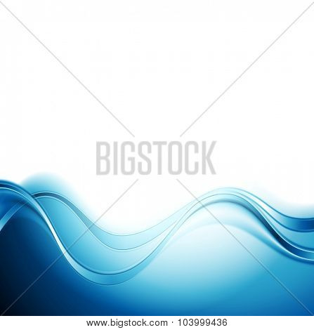 Bright blue abstract water waves design