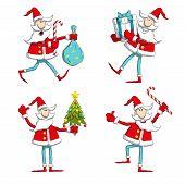 Постер, плакат: Santa poses