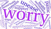 Постер, плакат: Worry Word Cloud