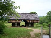 stock photo of cade  - a historic barn located at Cades Cove in the Great Smoky Mountains - JPG