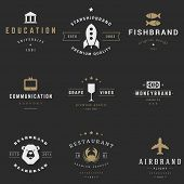 Retro Logotypes vector set. Vintage graphics design elements for logos, identity, labels, badges, ri poster