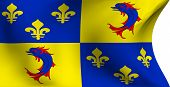 stock photo of dauphin  - Flag of Dauphine France against white background - JPG