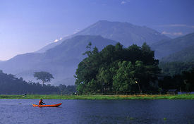 stock photo of pene  - a view in rawa pening natural dam about 30 kms south of semarang the capital of central java province indonesia - JPG