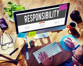 foto of trustworthiness  - Responsibility Duty Obligation Job Trustworthy Concept - JPG