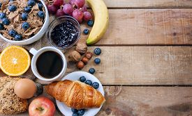 image of continental food  - a continental breakfast  - JPG