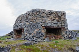 foto of murmansk  - Remains of a German bunker from the Second World War on the Rybachy peninsula near Murmansk - JPG