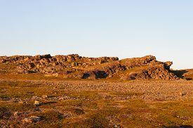 picture of murmansk  - Sunset in rocky tundra of the Rybachy peninsula near Murmansk Russia - JPG
