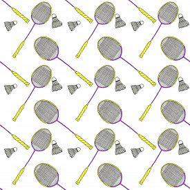 picture of shuttlecock  - Badminton racquets and shuttlecocks - JPG