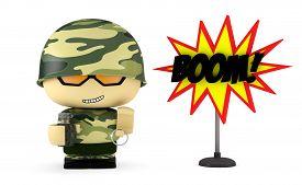 foto of grenades  - 3D Cartoon character - JPG