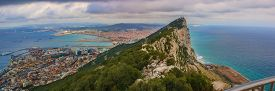 pic of gibraltar  - Amazing Vista from the top of the Rock of Gibraltar - JPG