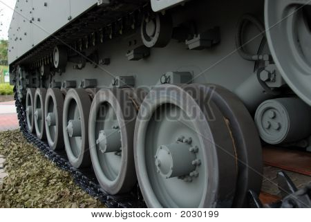 Big Military Tank In The Army Camp