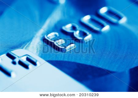 Close up of credit card.