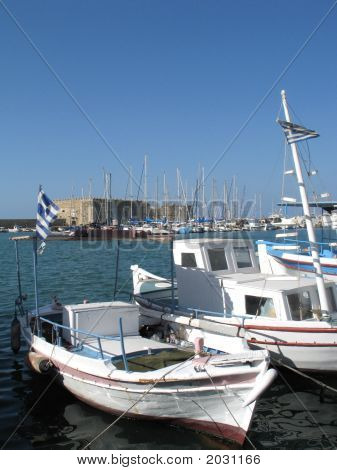 Port In Heraklion, Crete