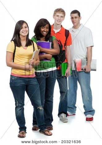 A multi-racial group of College students, male and female
